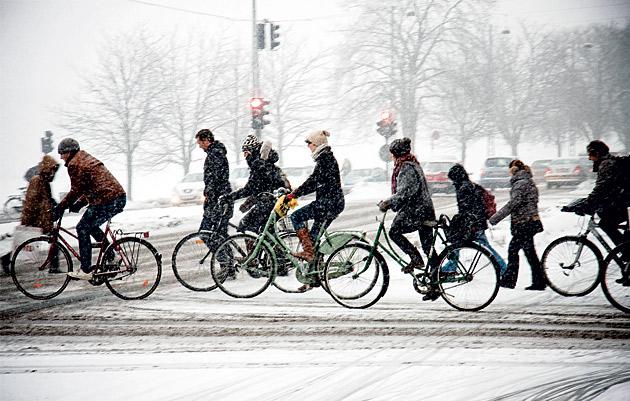 Zima v Kodani – jezdí se pořád