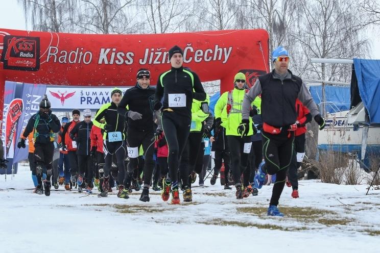 Extrémní Lipno Ice Marathon poprvé na ledu.