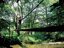 Můstky přes řeku v nejkrásnějším úseku trasy mezi Tachovem a Stříbrem jsou kořením celé 'plavby'
