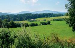Výhled na Šumavu pod Kuklovem