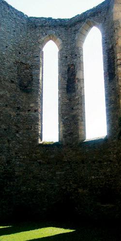 Majestátné rozvaliny kuklovského kláštera