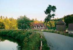Na hrázi Jevanského rybníka