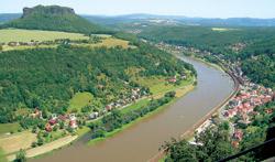 Labe v Königsteinu