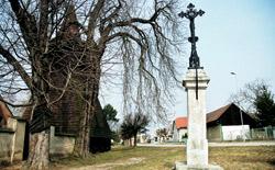 Památný strom v Jabkenicích je stejně majestátný jako dřevěná zvonice z 15. století