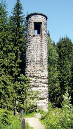 Šoupátková věž Protržené přehrady