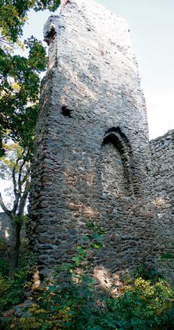 Věž zříceniny hradu Choustník