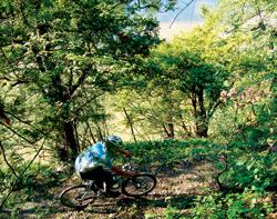 Úzká pěšinka nad Berounkou Nezabudický mlýn – rezervace U Eremita
