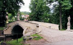 Švédský most v obci Dobřív
