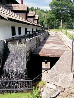 Starý hamr v obci Dobřív